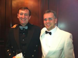 Martin and Philippe at the Hong Kong's Sailors Society Dinner